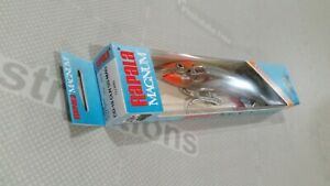 RARE RAPALA CD 18 CLN SS MAG MINT NIB FISHING LURE CD-18 MAGNUM CLOWN STAINLESS