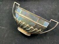 Vintage Benetfink & Co Silver ov copper plated Art Deco open sugar dish England