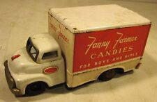 Vintage 1950's Tin Friction Toy Truck Fanny Farmer Candies Made In Japan