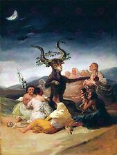 Pintura Fantasía Paisaje Goya las brujas de reposo gran impresión arte cartel lf1541