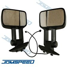 Side View Mirrors Power Heated Towing Black LH & RH Pair Set for 07-13 Chevy GMC