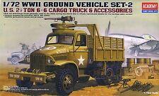 Academy 1/72 13402 WWII US 2.5 Ton Cargo Truck & Accessories