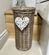 Antique Wash Toilet Roll Holder Stand Bathroom Decoration Handmade Willow Heart