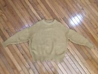 ZARA Knit Men's Tan crewneck pullover sweater Acrylic Alpaca Blend Size M