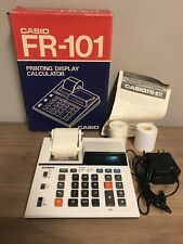 Casio FR-101 Printing/Display Calculator w/Box Manual Extra Paper Works Great