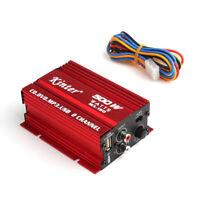 500W Audio Amplifier Cable 2 Channels Mini Hi-Fi Stereo Audio Amplifier Amp Mp3