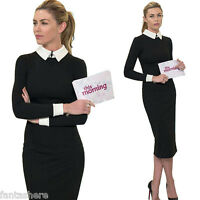 Women Lapel OL Formal Business Stretch Cocktail Party Evening Slim Pencil Dress