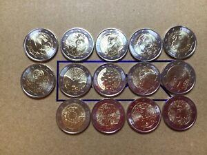 14 x 2 Euro sondermünzen   Gedenkmünzen  Alle unc Top