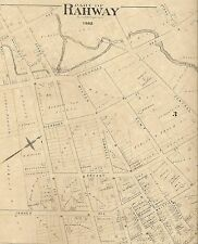 Rahway NJ 1882  Maps with Homeowners Names Shown 4 map set