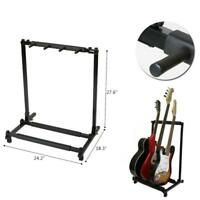 3 Guitar Stand Multiple 3 Display Rack Folding Padded Organizer