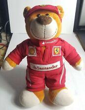 Ferrari Race Suit Bear Scuderia Santander Formula 1 Racecar tall Mascot
