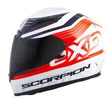 Scorpion EXO-R2000 Fortis Helmet WHITE ORANGE FULL FACE DOT SNELL SIZE 2XL