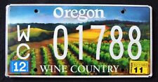 "OREGON "" WINE COUNTRY "" OR Specialty Graphic License Plate"