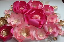 Peonies Paper Flowers for Wall Décor,Backdrops, Weddings and Showers decoration