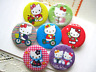 SUPER Hello Kitty Bundle Stationary Badges Shoe Buckles Charm & Chain Stickers