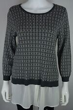 Women's Max Edition size Large L Checkered Long Sleeve Combined Shirt Blouse NWT
