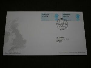2013 GB Stamps POST & GO 2nd. CLASS100g AND L/LETTER First Day Cover P&G Cancel