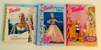 BARBIE Vintage 1990's Hardcover Books- Lot of 3