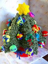 Eternal Christmas Tree - 3D - Free Standing+trims/decorations - Knitting Pattern