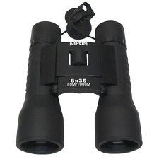NIPON® 8x35 Roof Prism Binoculars. Twist-up eyecups and wide field of view.