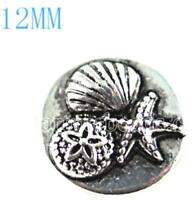 Silver Sea Shell Star Fish 12mm Mini Snap Charm For Ginger Snaps Magnolia Vine