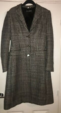 Dolce & Gabbana Houndstooth Wool Long Ladies Coat * RRP £2000+ *Size 10 (IT 42)