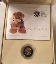 Royal Mint 2011 'A Gift For Baby' Gold Quarter-Sovereign, Encapsulated, COA, Box