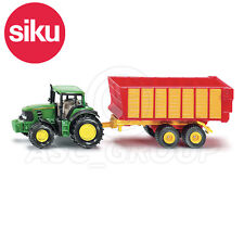 SIKU NO.1650 1:87 Scale JOHN DEERE TRACTOR WITH SILAGE TRAILER Dicast Model Toy