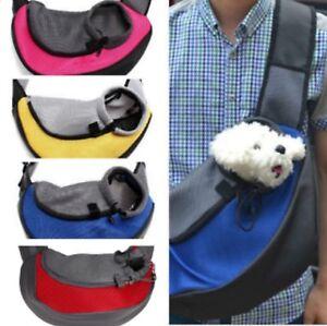 Pet Carrier Sling Cat Puppy Small Dog Mesh Travel Bag Tote Shoulder Backpack UK