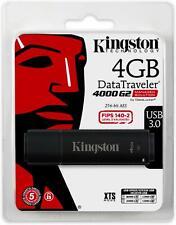 Kingston Digital 4GB USB 3.0 DT4000 G2 256 AES FIPS 140-2 Level 3 Encrypted (DT4