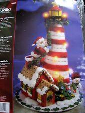 Bucilla Christmas FELT Applique Centerpiece Table KIT,HOLIDAY LIGHTHOUSE,86057