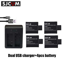 SJCAM Charger 4Piece Standard 3.7V 900mAh for SJ4000 SJ8000 SJ7000 Action Camera