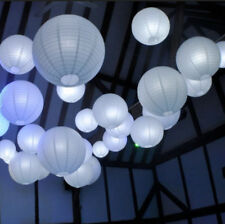 24x white paper lanterns 24 LED lights church wedding party Christmas decoration