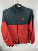 Disney Parks Red Black Star Wars Windbreaker Hoodie Rain Jacket Size Large Vader