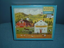 Charles Wysocki's 1000 Piece MB Puzzle THE AMISH WAY 2004 Americana Complete