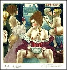 David Bekker 2015 Exlibris C4 Erotic Brodovich Erotik Nude Sex Nudo Woman d6