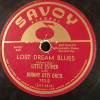 DECEIVIN' BLUES on SAVOY 78 record Little Esther Mel Walker Johnny Otis see pics