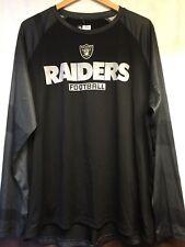 RAIDERS Black Gray Long Sleeve Mens Shirt XL Team Apparel