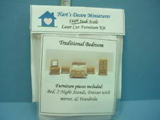 Miniature Dh/Dh Traditional Bedroom Furniture Kit #I (5 Piece) 1/144th Sc Harts