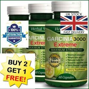 100% Pure Garcinia Cambogia 3000mg 95% HCA Weight Loss Fat Burner Diet Pills