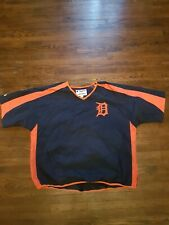 Majestic Detroit Tigers Pull Over Short Sleeve XL jacket windbreaker