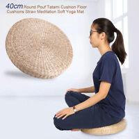 40cm Pouf Rond Tatami Coussin De Siège Oreiller Coussin Paille Méditation Yoga