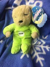 Plush Polyester Prayer Bear Recites Children's Bedtime Prayer  Green