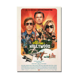 Once Upon a Time in Hollywood Poster Movie Vintage Painting Wall Art Decor Print