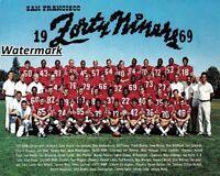 NFL 1969 San Francisco 49ers Color Team Picture 8 X 10 Photo Picture