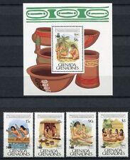 Grenada Grenadinen 1989 Entdeckung Kolumbus Ureinwohner 1221-24 + Block 180 MNH