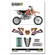 2002-2008 KTM SX 50 JDR/JSTAR Dirt Bike Graphics kit Motocross Decal by EnjoyMFG