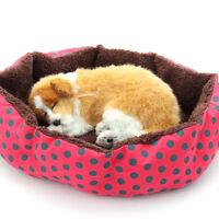 Soft Round Puppy Cat Dog Pet Bed House Kitten Nest Cushion Blanket Mat Pad