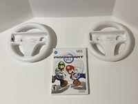 🔥 NINTENDO Wii 🔥 💯COMPLETE WORKING GAME CIB - MARIO KART + 2 WHEELS SUPER FUN