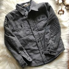 Vans Shirt Jacket Little Boys Large Quilted Embroidered Elbow Patches